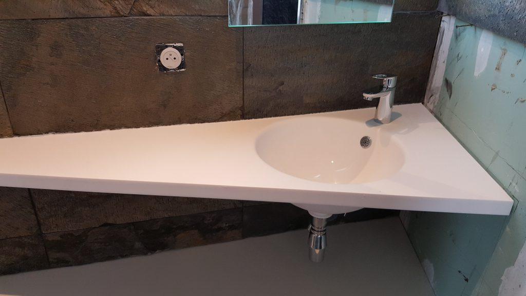 Lavabo salle de douche réalisé sur mesure AG2P